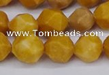 CNG6191 15.5 inches 10mm faceted nuggets yellow jade beads