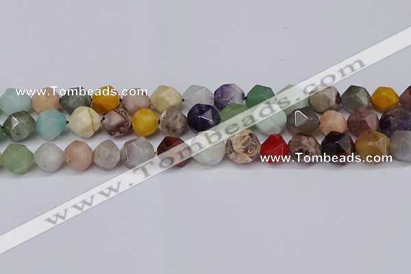 CNG6204 15.5 inches 10mm faceted nuggets mixed gemstone beads