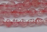 CNG6260 15.5 inches 6mm faceted nuggets cherry quartz beads
