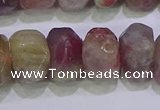 CNG6381 15.5 inches 6*14mm - 8*14mm nuggets tourmaline beads