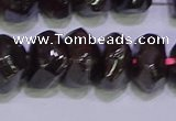 CNG6382 15.5 inches 6*14mm - 8*14mm nuggets red garnet beads