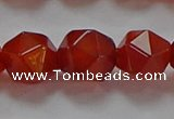 CNG6507 15.5 inches 12mm faceted nuggets red agate beads