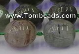 CNG6872 12*16mm - 13*18mm nuggets green rutilated quartz beads
