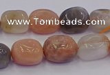 CNG6896 15.5 inches 8*12mm - 10*14mm nuggets mixed moonstone beads