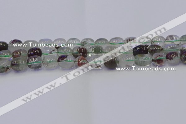 CNG6912 15.5 inches 12*16mm - 13*18mm nuggets green phantom quartz beads