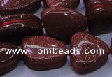 CNG695 15.5 inches 13*18mm - 15*16mm freeform goldstone beads