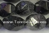 CNG6957 10*12mm - 12*16mm faceted nuggets black rutilated quartz beads
