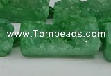 CNG7017 15.5 inches 10*28mm - 12*30mm freeform druzy agate beads