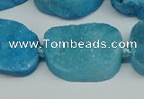 CNG7025 15.5 inches 20*28mm - 25*35mm freeform druzy agate beads