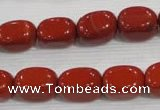 CNG721 15.5 inches 10*14mm nuggets red jasper beads wholesale
