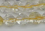 CNG7233 15.5 inches 12mm faceted nuggets citrine gemstone beads
