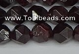 CNG7278 15.5 inches 12mm faceted nuggets red garnet beads