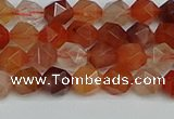 CNG7280 15.5 inches 6mm faceted nuggets red rabbit hair quartz beads