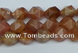 CNG7295 15.5 inches 6mm faceted nuggets sunstone beads