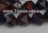 CNG7318 15.5 inches 12mm faceted nuggets purple tiger eye beads