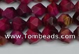 CNG7320 15.5 inches 6mm faceted nuggets red tiger eye beads