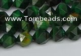 CNG7325 15.5 inches 6mm faceted nuggets green tiger eye beads