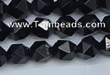 CNG7351 15.5 inches 8mm faceted nuggets Black agate beads