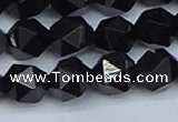 CNG7353 15.5 inches 12mm faceted nuggets Black agate beads