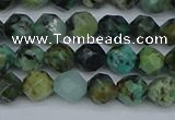 CNG7385 15.5 inches 6mm faceted nuggets African turquoise beads