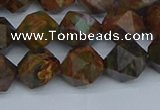 CNG7391 15.5 inches 8mm faceted nuggets green opal beads