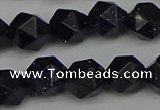 CNG7408 15.5 inches 12mm faceted nuggets blue goldstone beads
