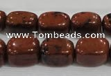 CNG741 15.5 inches 12*16mm nuggets mahogany obsidian beads wholesale