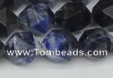 CNG7438 15.5 inches 12mm faceted nuggets sodalite gemstone beads