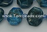 CNG7457 15.5 inches 12*16mm - 15*20mm faceted freeform apatite beads