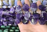 CNG7473 15.5 inches 18*25mm - 20*28mm faceted freeform amethyst beads