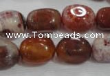 CNG748 15.5 inches 13*18mm nuggets fire agate beads wholesale