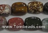 CNG750 15.5 inches 13*18mm nuggets Indian agate beads wholesale