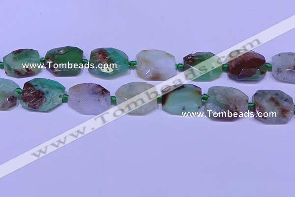 CNG7529 18*25mm - 25*35mm faceted freeform australia chrysoprase beads