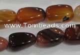 CNG753 15.5 inches 14*20mm nuggets agate beads wholesale