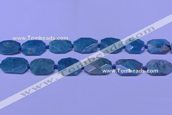 CNG7530 15.5 inches 18*25mm - 25*35mm faceted freeform amazonite beads