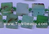 CNG7549 12*14mm - 14*15mm freeform Australia chrysoprase beads