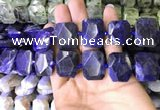 CNG7562 15.5 inches 18*25mm - 20*28mm faceted freeform sodalite beads