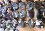 CNG7581 18*25mm - 20*28mm faceted freeform Botswana agate beads