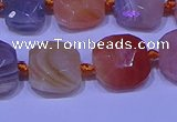 CNG7620 12*14mm - 13*15mm faceted freeform red botswana agate beads