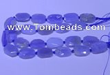 CNG7623 20*30mm - 22*32mm faceted freeform blue chalcedony beads
