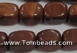 CNG770 15.5 inches 13*18mm nuggets Chinese red jasper beads wholesale