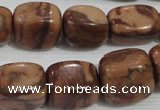 CNG772 15.5 inches 13*18mm nuggets chinese bamboo stone beads wholesale
