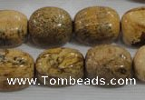 CNG776 15.5 inches 13*18mm nuggets picture jasper beads wholesale