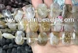 CNG7760 13*18mm - 15*25mm faceted freeform scenic quartz beads