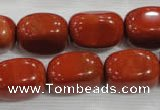 CNG778 15.5 inches 13*18mm nuggets red jasper beads wholesale