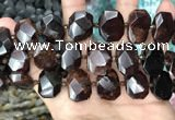 CNG7789 13*18mm - 15*25mm faceted freeform orange garnet beads
