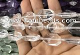 CNG7800 13*18mm - 18*25mm faceted freeform white crystal beads