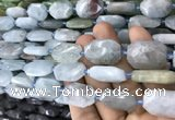 CNG7811 15.5 inches 13*18mm - 18*25mm faceted freeform aquamarine beads