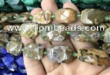 CNG7818 15.5 inches 13*18mm - 18*25mm faceted freeform rhyolite beads