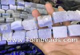 CNG7852 18*25mm - 20*25mm faceted nuggets blue lace agate beads